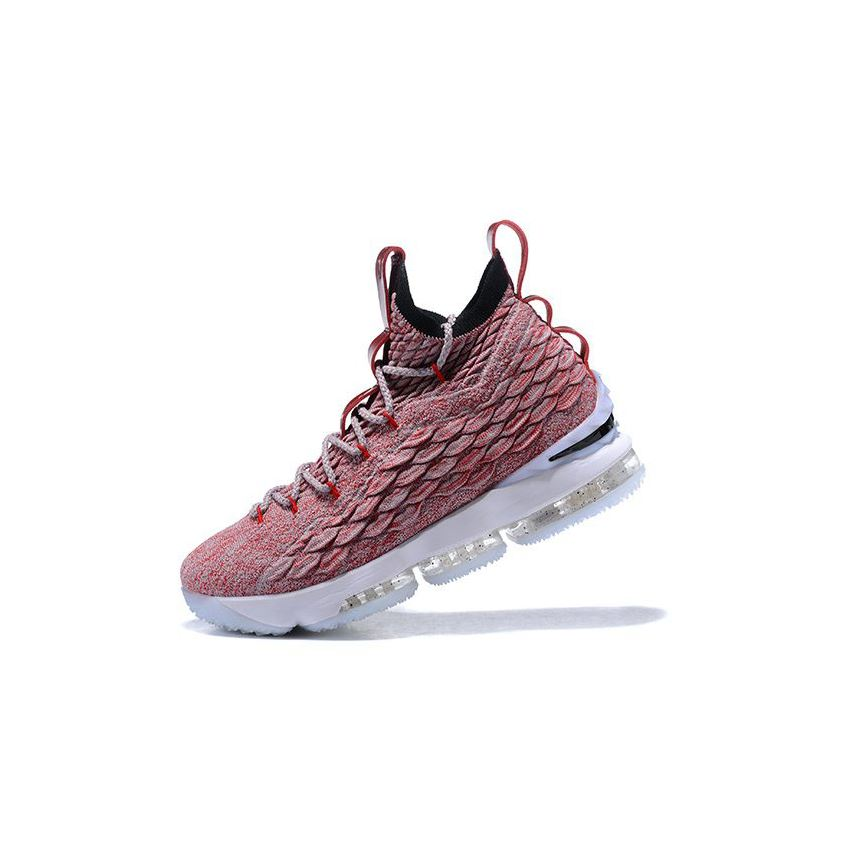 Nike LeBron 15 Wine Red Flyknit Basketball Shoes 897649 201